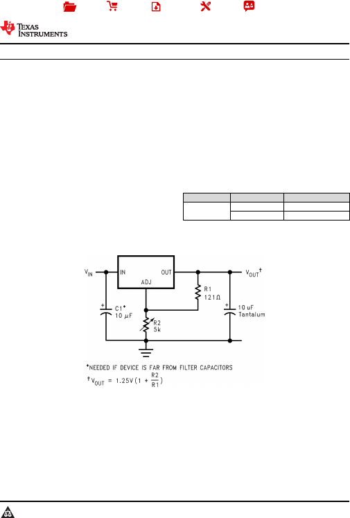 电源管理 稳压ic lm1085it-adj/nopb   product folder sample & buy